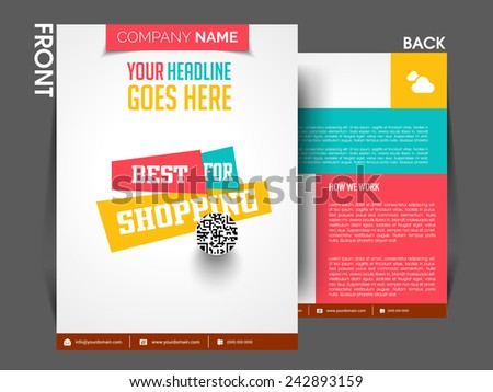 Stylish Vector flyer, brochure, magazine cover template can use for print and marketing. - stock vector