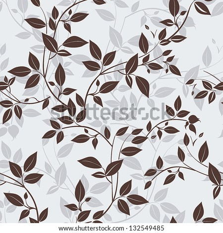 Stylish Vector seamless floral spring pattern, Beautiful illustration texture - stock vector