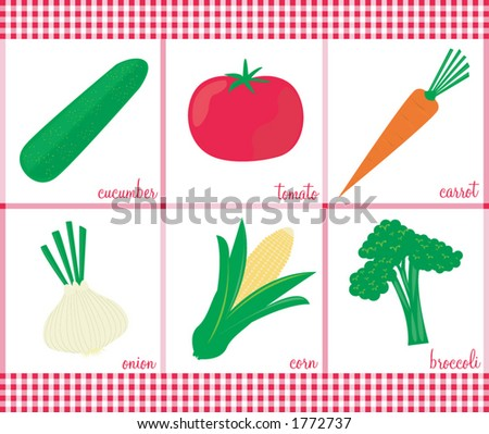 Stylish vector veggies. See my gallery for coordinating fruits.