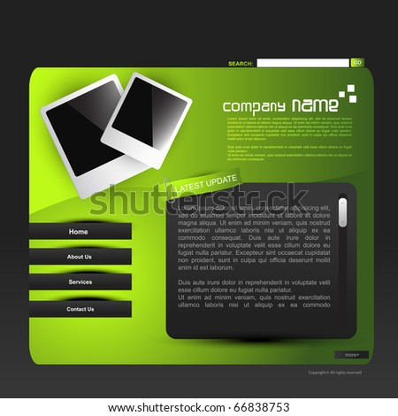 stylish vector web template design - stock vector
