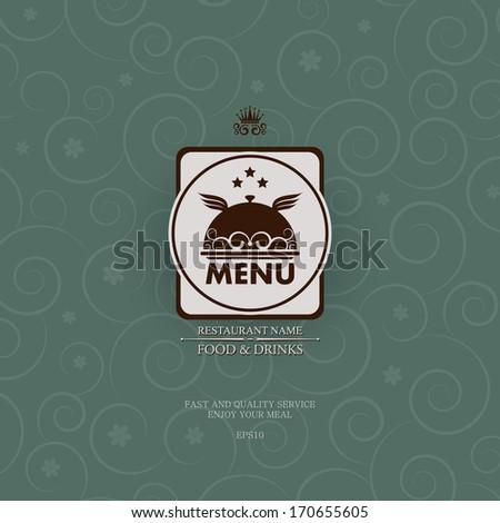 Stylish vintage restaurant menu. - stock vector
