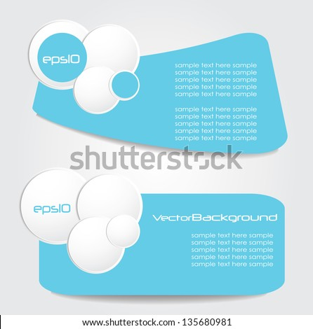 stylish web label,banners - stock vector