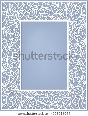 stylization floral frame - stock vector