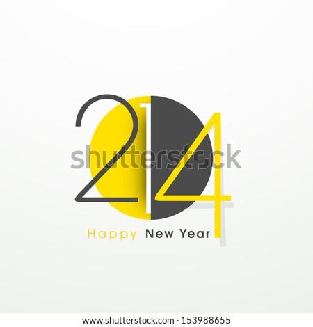 Stylize Happy New Year 2014 celebration background.  - stock vector