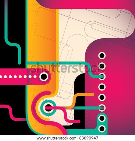 Stylized abstract composition. Vector illustration.