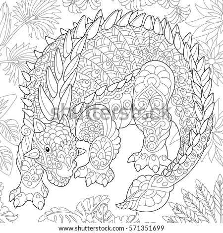 Zentangle stock images royalty free images vectors shutterstock - Mandala dinosaure ...
