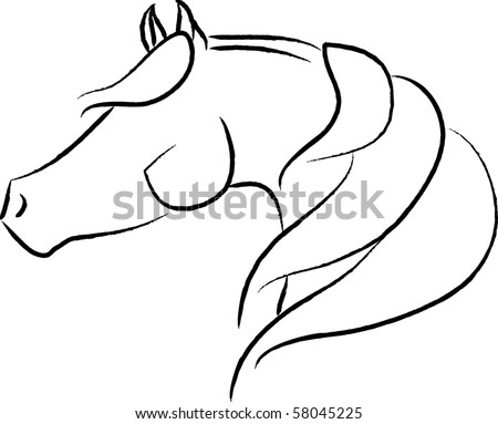 Stylized Arabian Horse Vector