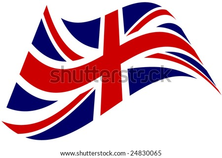 stylized British flag - stock vector