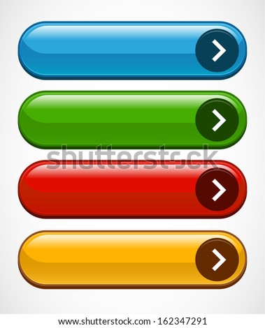 Stylized buttons, bars or banners - stock vector