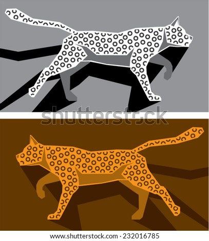 Stylized cat vector - stock vector
