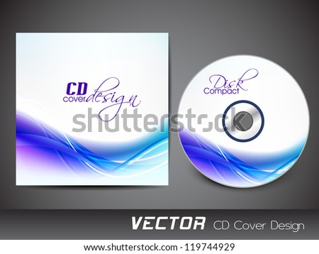 Stylized CD Cover design template. EPS 10. - stock vector