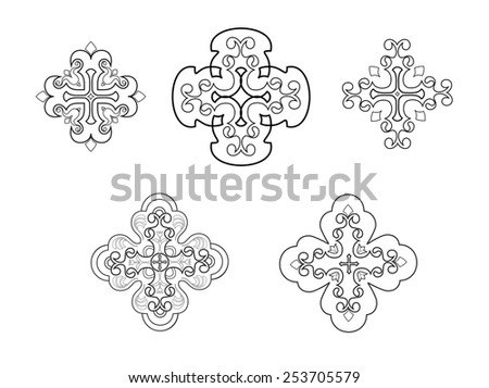 Stylized christian cross - stock vector