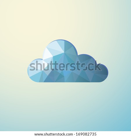 Stylized cloud of polygons