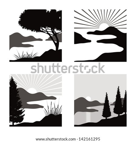 Lake Drawing Stock Images Royalty Free Images Vectors