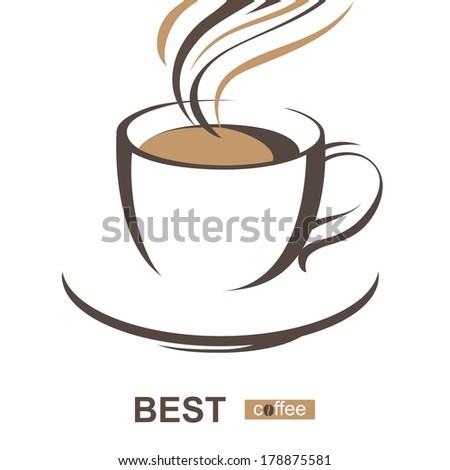 stylized coffee cup - stock vector