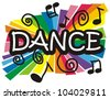 Stylized colorful illustration representing dance - stock photo