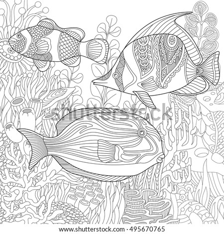 fish coloring pages difficult - photo#25