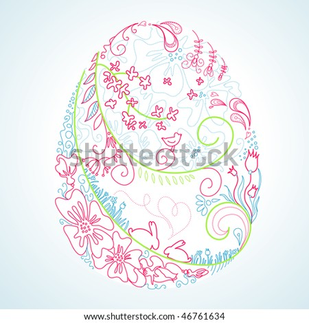 stylized easter egg - stock vector