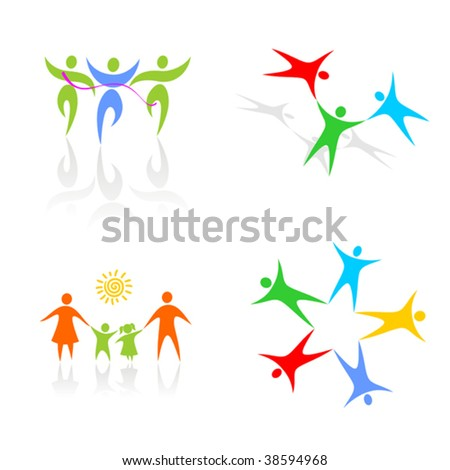 stylized figures on a white background