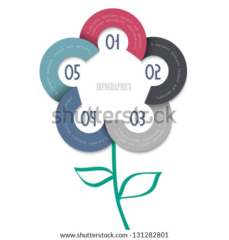 Stylized flower - trendy design for infographics,website templates or design graphic for business. Vector EPS10 - stock vector