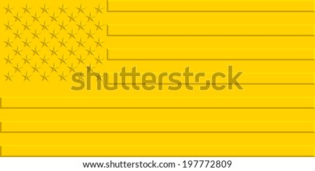 Stylized gold flag of the United States  - stock vector