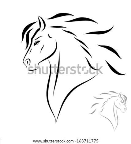 Horse face side sketch