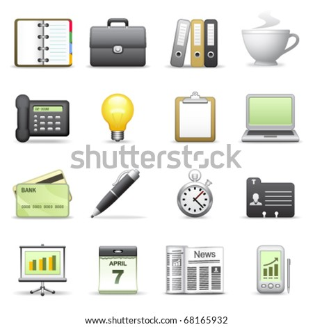 Stylized icons. Business. - stock vector