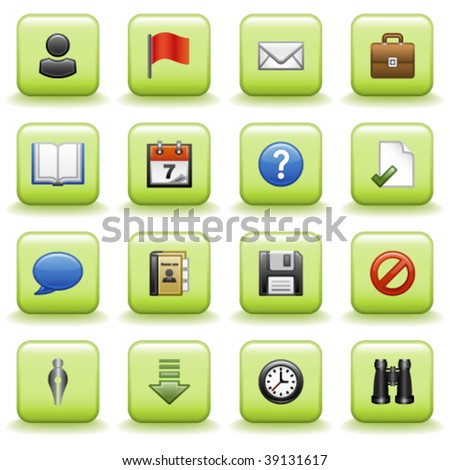 Stylized icons set 01 - stock vector