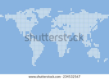 Stylized image world map vector illustration stock vector 234532567 stylized image of world map vector illustration gumiabroncs Image collections