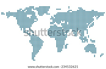 Stylized image of world map. Vector illustration - stock vector