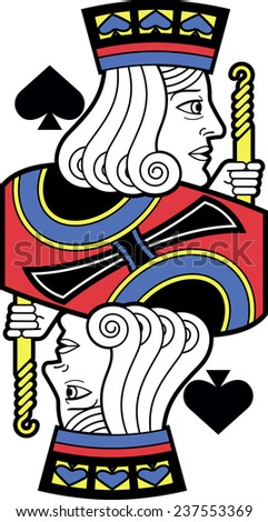 Stylized Jack of Spades without card version - stock vector