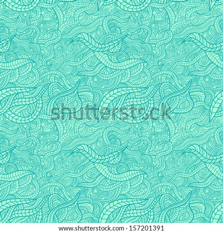 Stylized leaves vector seamless pattern - stock vector