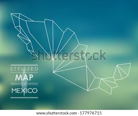 Stylized map of Mexico. map concept - stock vector