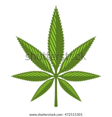 Stylized Marijuana leaf icon.