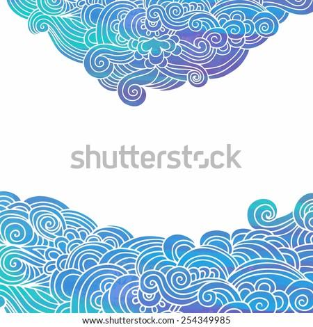 Stylized marine background - stock vector