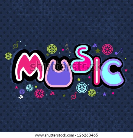Stylized retro music background. EPS 10. - stock vector