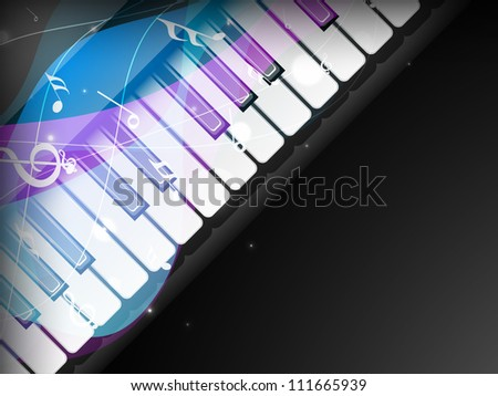 Stylized retro musical background with piano. - stock vector
