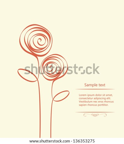 Stylized roses. Vector illustration - stock vector