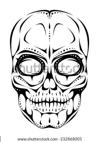 Stylized skull - stock vector