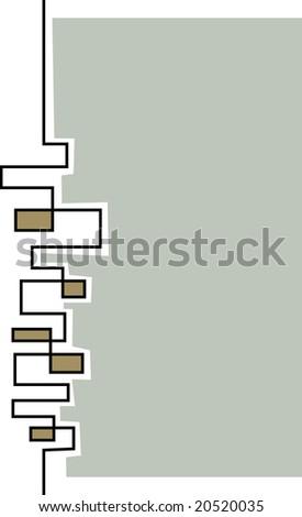 Stylized skyline layout template - stock vector