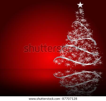 stylized vector Christmas tree - stock vector