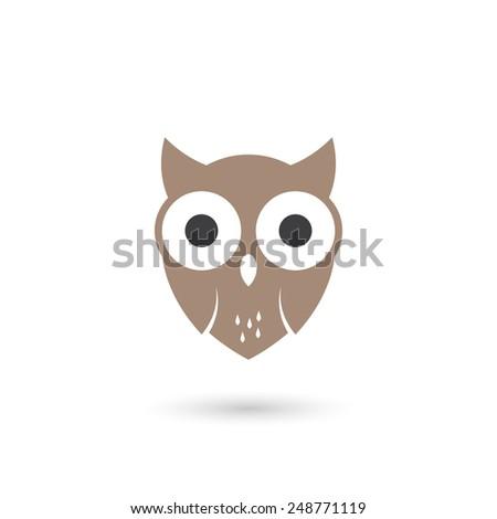 stylized vector owl - stock vector