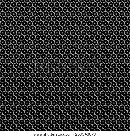 Stylized vector texture. Seamless vector. Repeating geometric tiles with hexagonal grid.