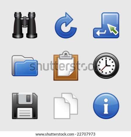 Stylized web icons, set 03 - stock vector