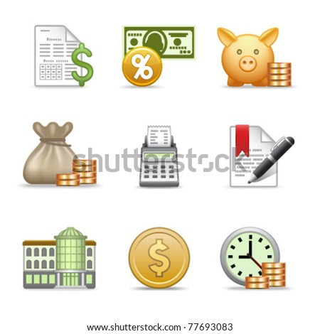 Stylized web icons, set 22 - stock vector