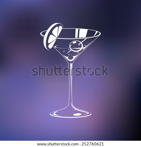 Stylized wine glass - stock vector