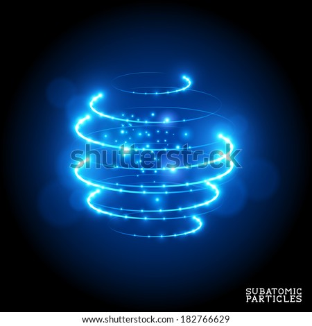 Subatomic Particles - vector illustration. - stock vector