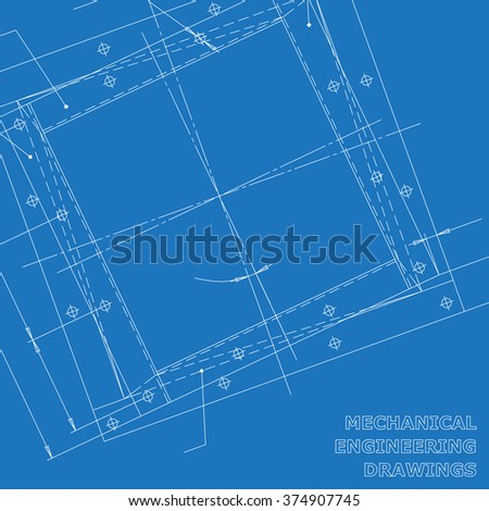 Subject vector background. Mechanical engineering elements. Technical illustration