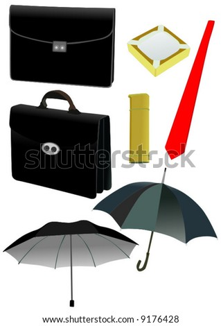 Subjects for businessman - stock vector