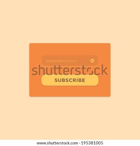Subscribe Button - stock vector